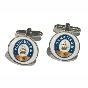 Cufflink Pair Round 18mm silver ready to wear, boxed